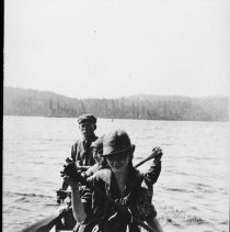 Image of 1918 - Canoe trippers in uniform