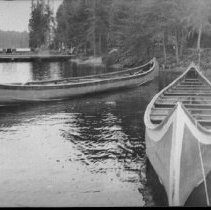 Image of 6165 - Two war canoes, Camp Ahmek