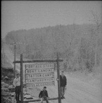 Image of 6179 - Signs at Canoe Lake corner
