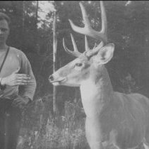 Image of 6295 - Unknown man and deer, Algonquin Park