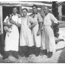 Image of Cook staff - logging camp.