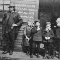 Image of 6372 - Rock Lake Station -- kids with pipes