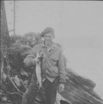 Image of 1992.2.18 - Harris Whitaker with fish