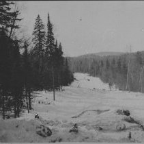 """Image of 6468 - The right of way, looking towards camp from """"Wheelbarrow Hill"""" Camp 4"""