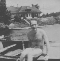 Image of Norm Paget on Cache Lake dock