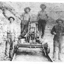 Image of 1895 - Railway workers building the track in Barry's Bay.