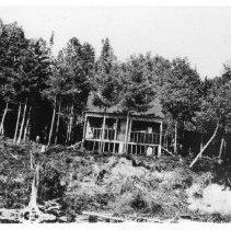 Image of 2102 - Rangers' Hut on Crow Lake, a snug shelter.