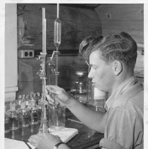 Image of 4536 - Jack Murdoch checking oxygen titration in water sample