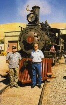 Image of Jim Hammel and Paul Carson at the Nevada State Railroad Museum, Carson City - July 2, 2006