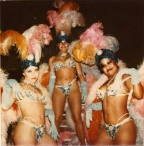 Image of Candid photo of performers from Folies Bergere - ca. 1980s