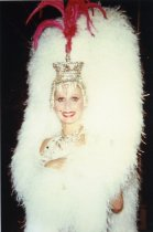 Image of Female performer with the Folies Bergere stage show - ca. 1980s