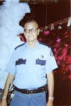 Image of Security officer with the Folies Bergere stage show - ca. 1980s