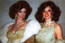 Image of Two female performers with Folies Bergere - ca. 1980s