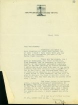 Image of Letter from Ernie Pyle to Clara Wiseman