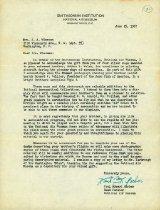 Image of Letter from Paul Garber