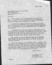 Image of Letter from Paul Garber to Evening Star