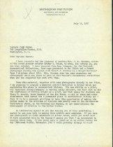 Image of Letter, Paul Garber to Falk Harmel