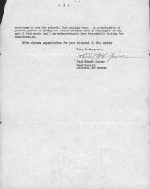 Image of page 2 Garber to Harmel letter