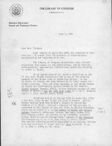 Image of Letter, McFarland to Wiseman