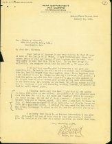 Image of Letter from Hap Arnold to Clara Wiseman