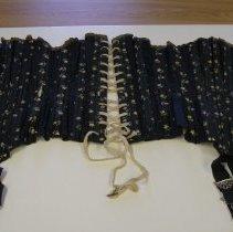 Image of Black corset open
