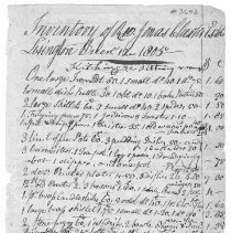 Image of Inventory of Jonas Clarke's Estate - 3642