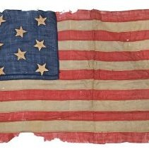 Image of Civil War American Flag of George E. Muzzey, 1861-1865  - 13083