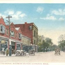 Image of Postcard of Massachusetts Avenue Business Section - 11336-17