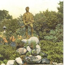 Image of Postcard of the Minuteman Statue - 2016.044-1