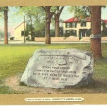 Image of Postcard of the Line of the Militia Marker - 2016.048-9