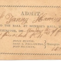 Image of Admittance Card for Ball at Munroe on February 29, 1808 - 13116-2