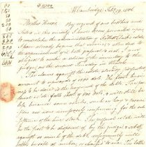 Image of Letter from Thaddeus Fiske to William Harris - 2016.013-1