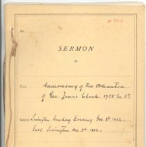 Image of Carleton Staples Sermon on the Anniversary of the Ordination of Jonas Clarke - 3162