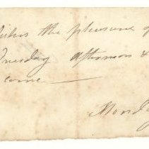 Image of Invitation from Eliza Clarke to Misses Reed and Brothers - 333