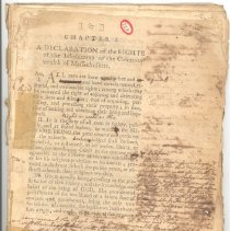 Image of Draft of Constitution of Massachusetts Annotated by Jonas Clarke - 724