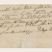 Image of Receipt for Purchase of Drums - 1593
