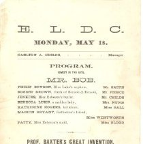 Image of Program for East Lexington Dramatic Club on May 18 (no year) - 13481