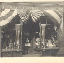 Image of Postcard of Lawrence Hardware in the Hunt Block - 2017.019-2