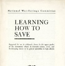 "Image of ""Learning How to Save"" Booklet - 13653"