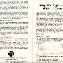 "Image of ""Why We Fight and What it Costs"" Handbill  - 13674"