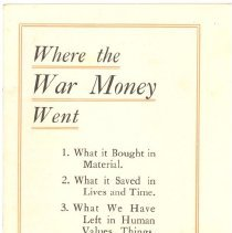 "Image of ""Where the War Money Went"" - 13677"
