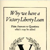 "Image of ""Why We Have a Victory Liberty Loan"" Handbill - 13722"