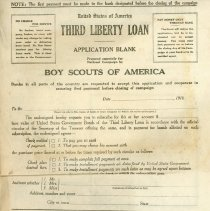 Image of Application for Third Liberty Loan Subscription - 13657-6