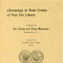Image of Chronology of Main Events of War for Liberty - 13660-2