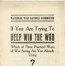 Image of Booklet by National War Saving Committee on War Saving - 13660-8