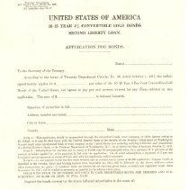 Image of Application for Bonds for the Second Liberty Loan - 13912