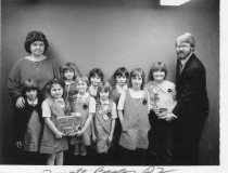 Image of Girl Scouts Donating Books to the Library - Girl Scouts People -- Groups