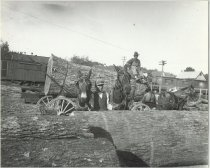 Image of Logs being loaded onto the Southern Railway