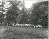 Image of Large group of unidentified people