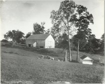 Image of Farm showing barn and shed